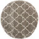 "Nourison Amore 3'11"" x 3'11"" Stone Round Rug - Item Number: AMOR2 STONE 311X311"