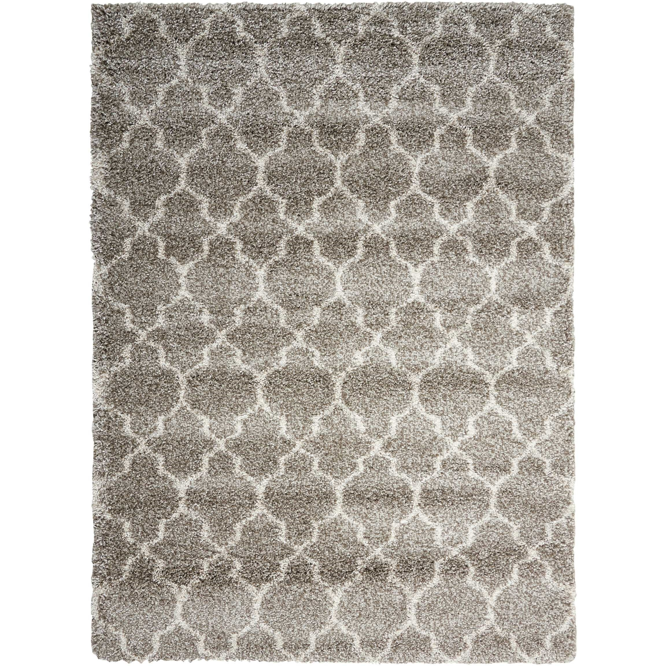 "Amore 3'2"" x 5' Stone Rectangle Rug by Nourison at Home Collections Furniture"
