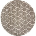 """Nourison Amore 6'7"""" x 6'7"""" Stone Round Rug - Item Number: AMOR2 STONE 67X67 RD"""