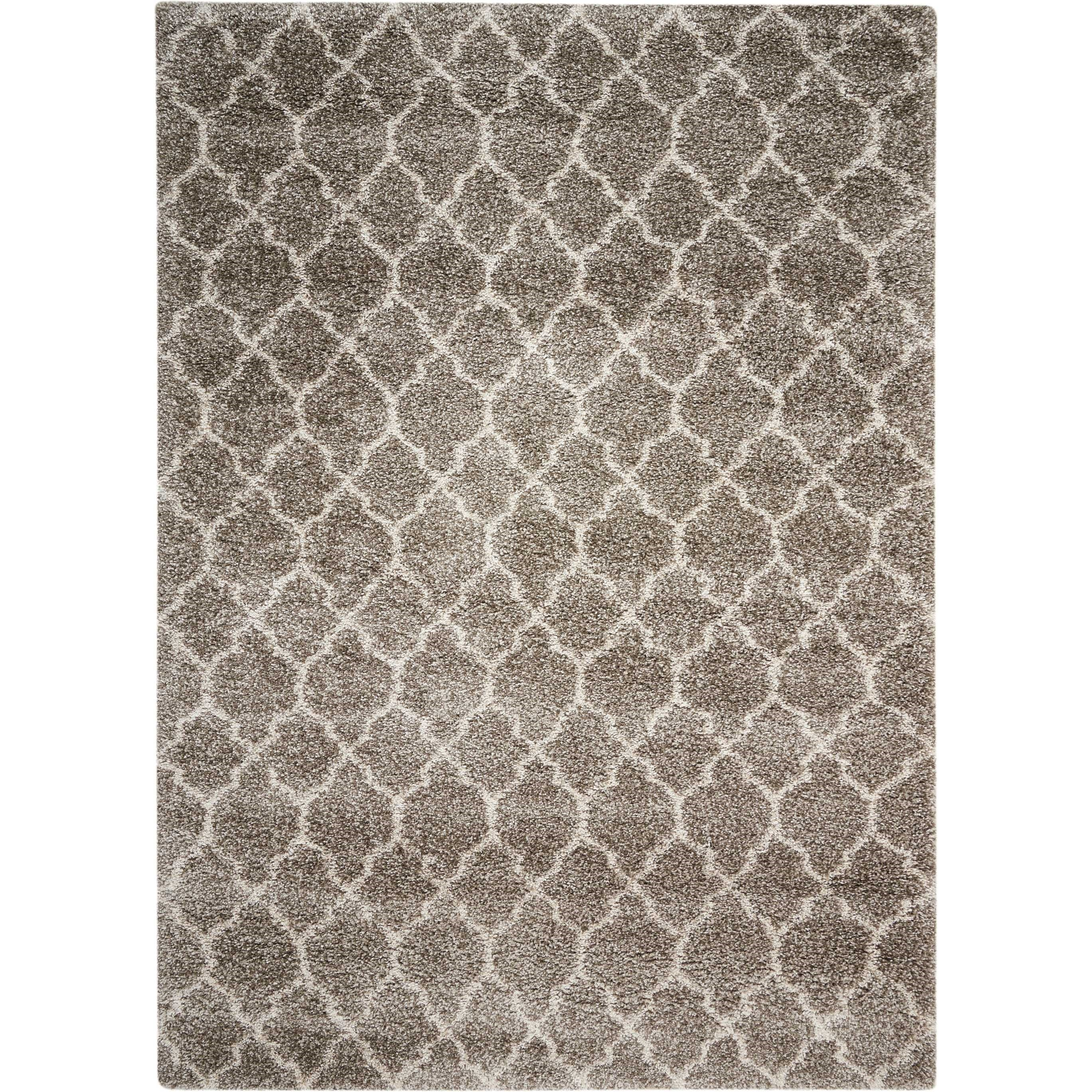 "Amore 6'7"" x 9'6"" Stone Rectangle Rug by Nourison at Sprintz Furniture"