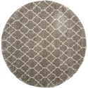 "Nourison Amore 7'10"" x 7'10"" Stone Round Rug - Item Number: AMOR2 STONE 710X710"
