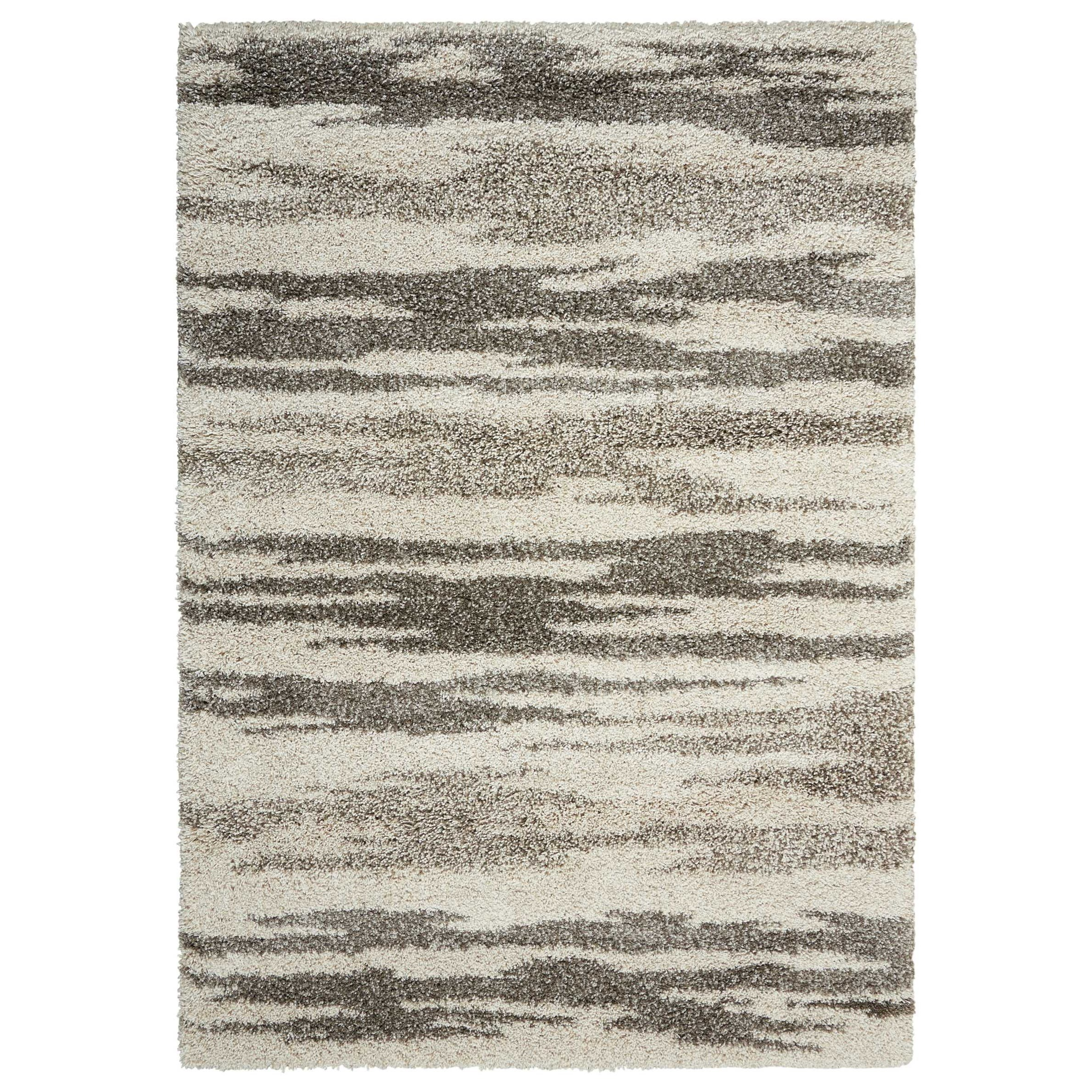 "Amore 5'3"" x 7'5"" Oyster Rectangle Rug by Nourison at Home Collections Furniture"