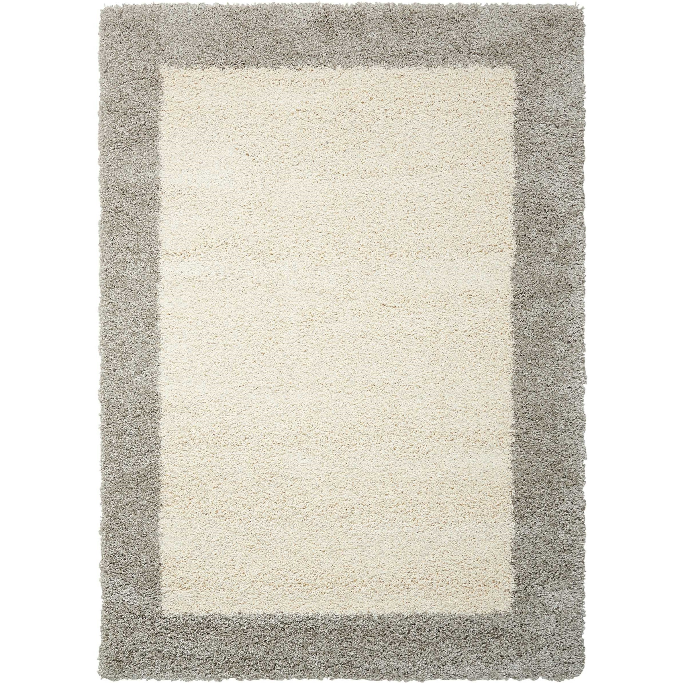 """Amore 3'11"""" x 5'11"""" Ivory/Silver Rectangle Rug by Nourison at Home Collections Furniture"""