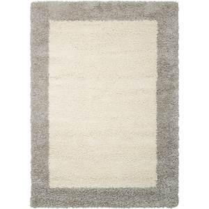 "Nourison Amore2 3'11"" x 5'11"" Ivory/Silver Rectangle Rug"