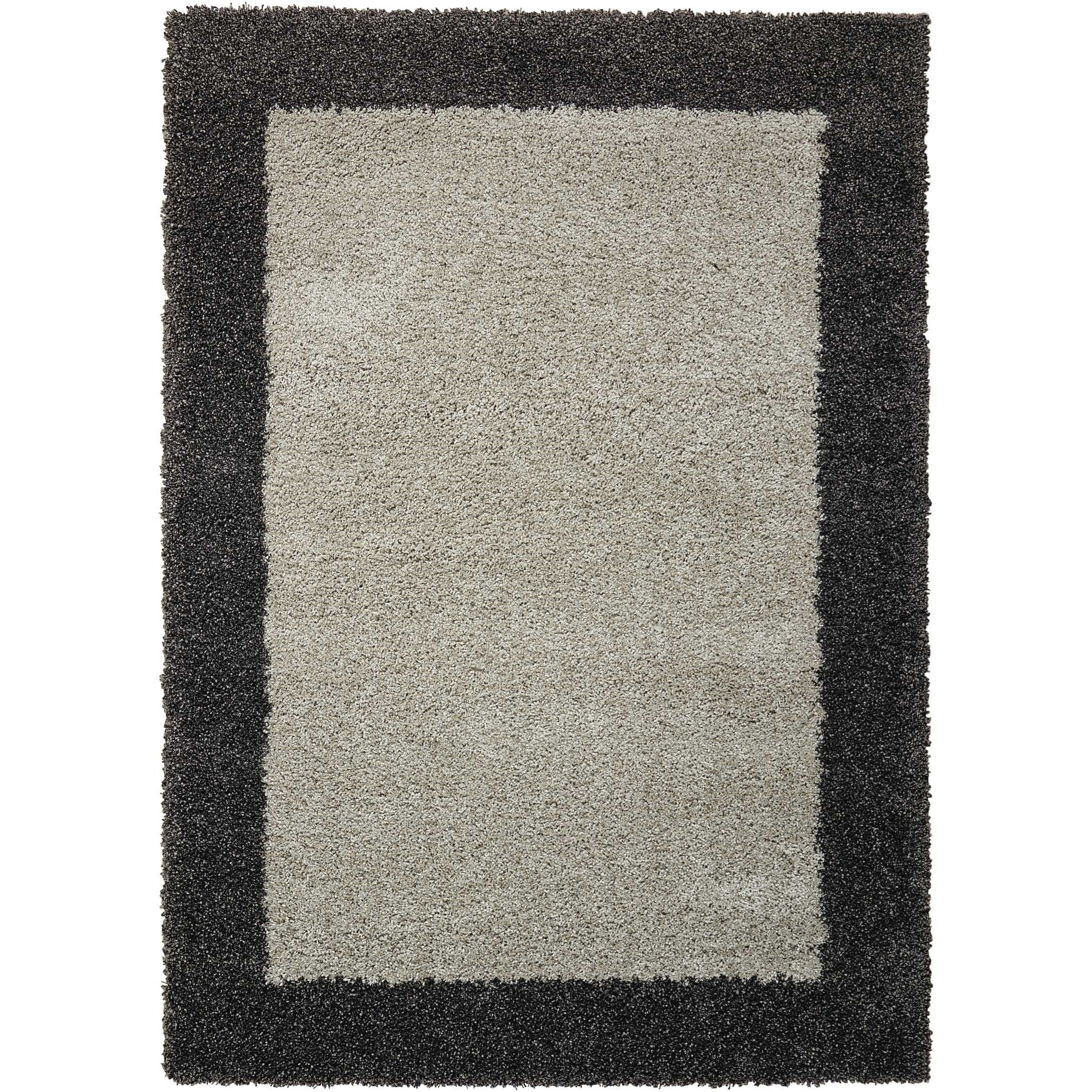 """Amore 3'11"""" x 5'11"""" Silver/Charcoal Rectangle Rug by Nourison at Sprintz Furniture"""
