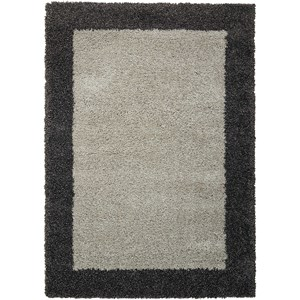 "Nourison Amore 3'11"" x 5'11"" Silver/Charcoal Rectangle Rug"