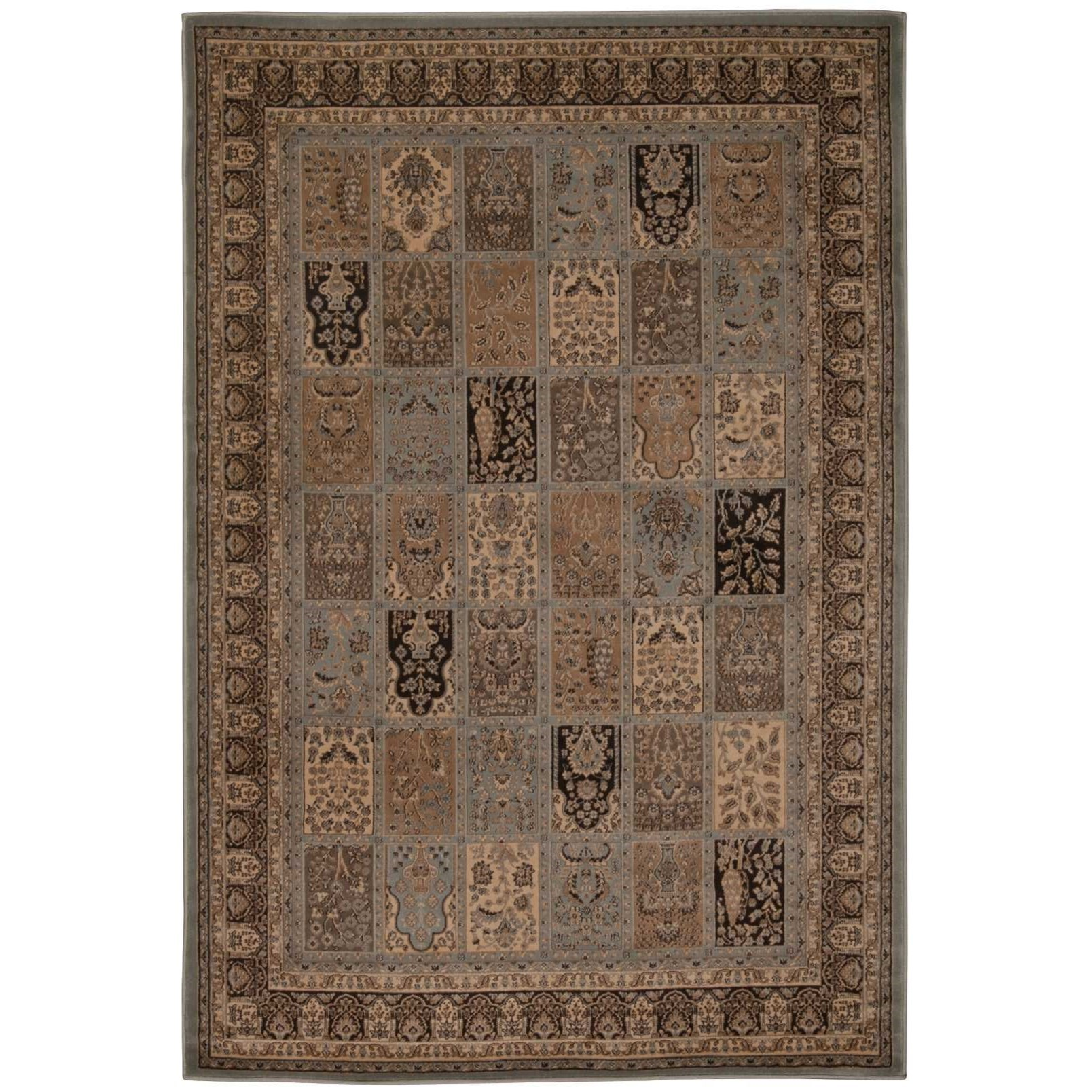 "3'9"" x 5'9"" Blue Rectangle Rug"