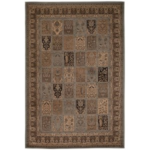 "Nourison Ararat 3'9"" x 5'9"" Blue Rectangle Rug"