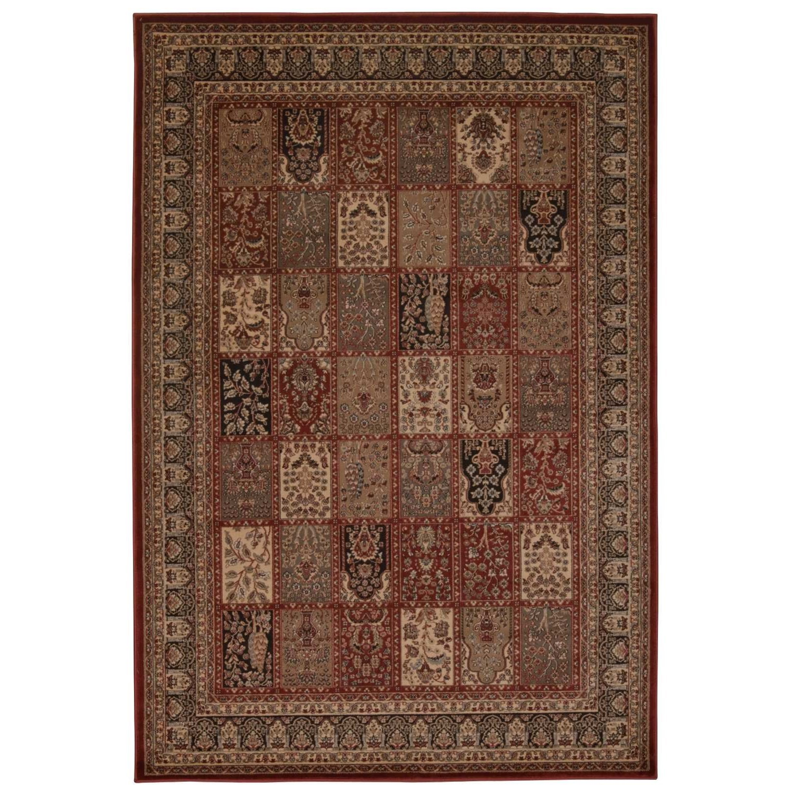 "Ararat 5'3"" x 7'4"" Burgundy Rectangle Rug by Nourison at Sprintz Furniture"