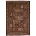 "Nourison Ararat 9'3"" x 12'9"" Burgundy Rectangle Rug - Item Number: ARA01 BUR 93X129"
