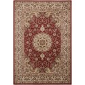 "Nourison Ararat 5'3"" x 7'4"" Burgundy Rectangle Rug - Item Number: ARA02 BUR 53X74"