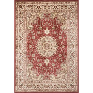 "Nourison Ararat 9'3"" x 12'9"" Burgundy Rectangle Rug"