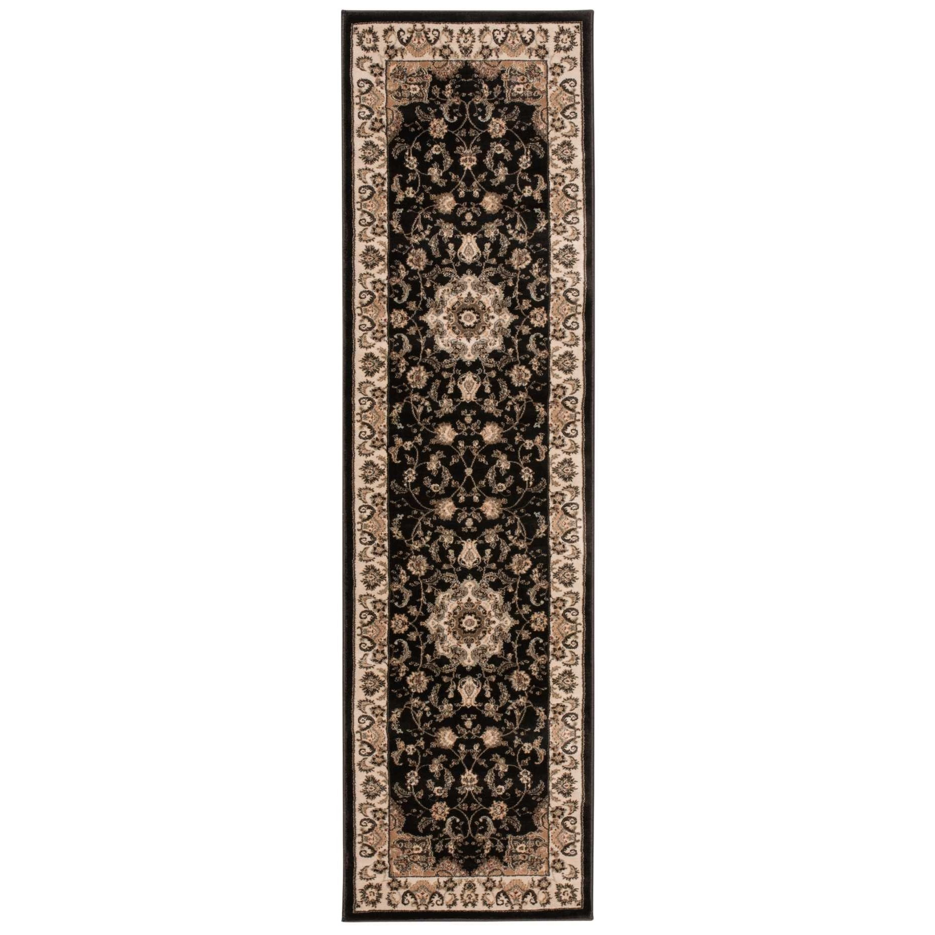 "Ararat 2'2"" x 7'6"" Charcoal Runner Rug by Nourison at Sprintz Furniture"
