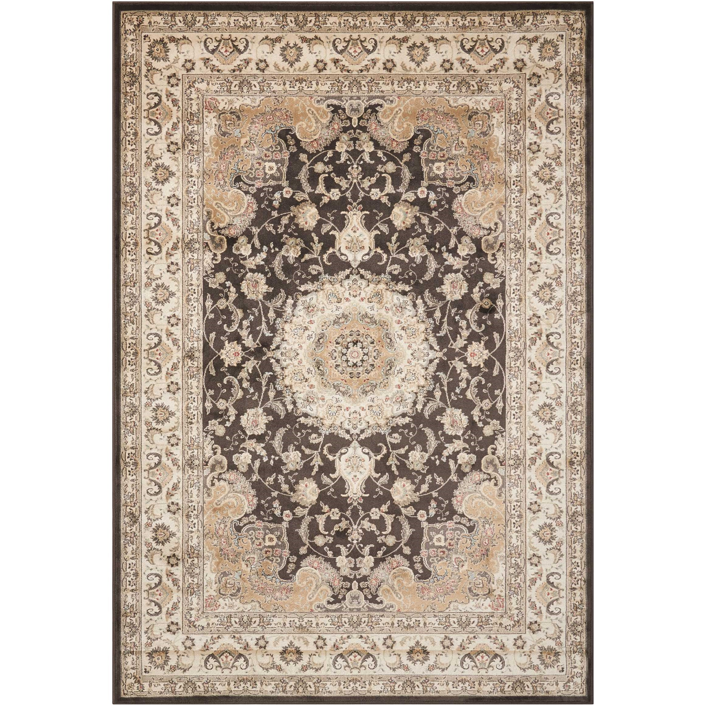 "9'3"" x 12'9"" Charcoal Rectangle Rug"