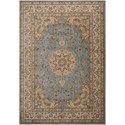 "Nourison Ararat 5'3"" x 7'4"" Light Blue Rectangle Rug - Item Number: ARA02 LTB 53X74"