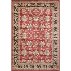 "Nourison Ararat 7'10"" x 10'6"" Burgundy Rectangle Rug"