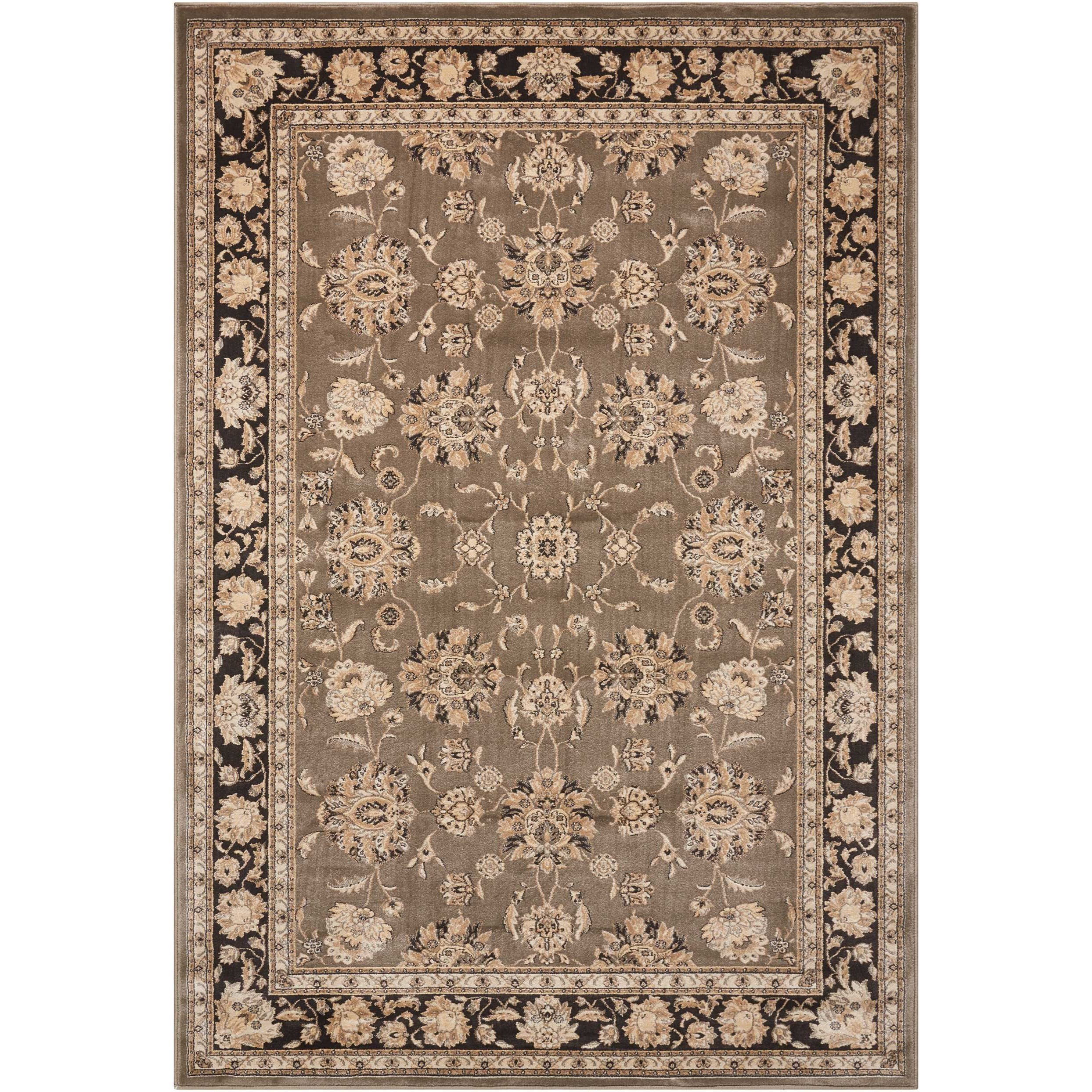 "Ararat 5'3"" x 7'4"" Grey Rectangle Rug by Nourison at Sprintz Furniture"