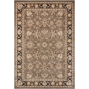 "Nourison Ararat 5'3"" x 7'4"" Grey Rectangle Rug"