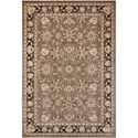 "Nourison Ararat 9'3"" x 12'9"" Grey Rectangle Rug - Item Number: ARA03 GRY 93X129"