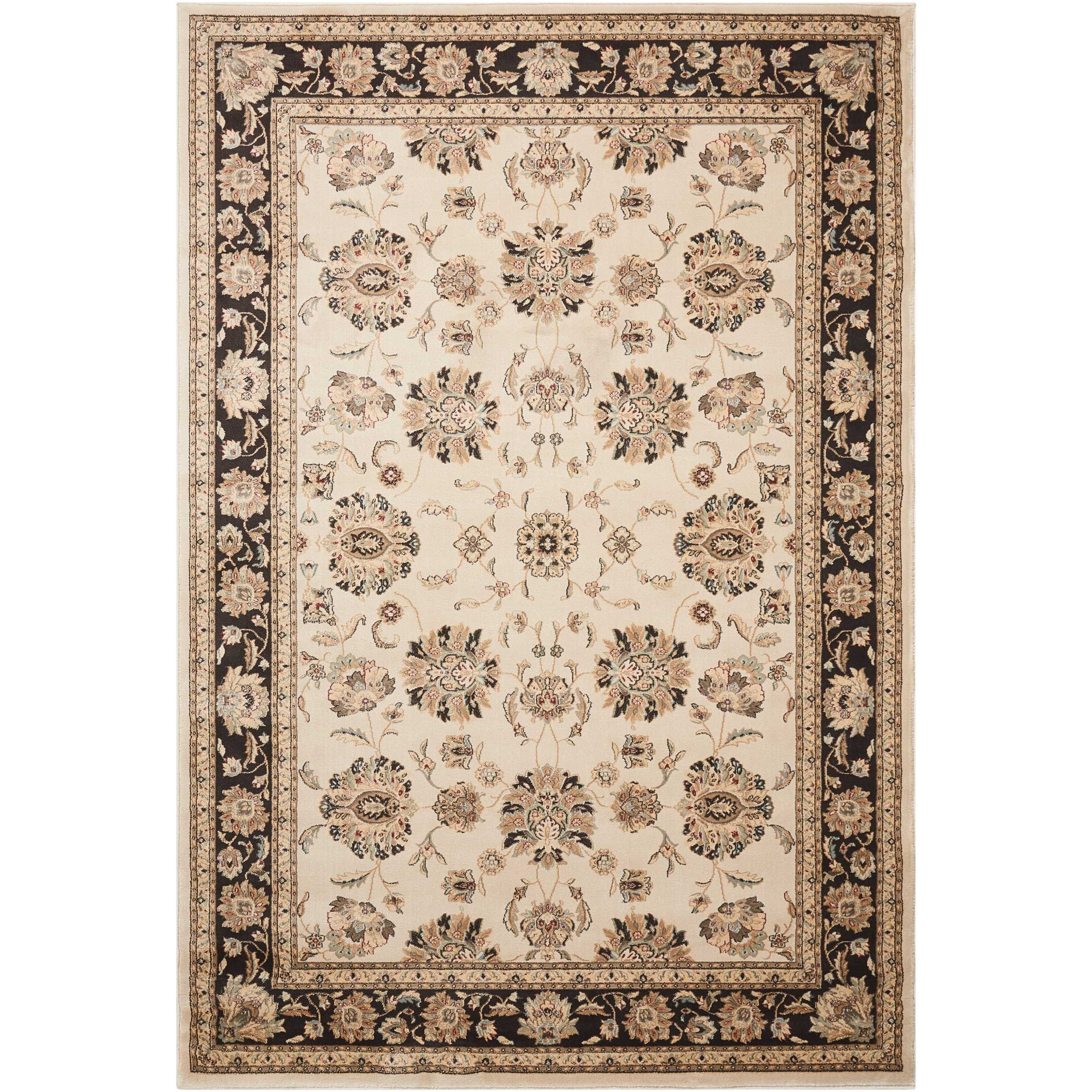 "Ararat 5'3"" x 7'4"" Iv/Grey Rectangle Rug by Nourison at Sprintz Furniture"