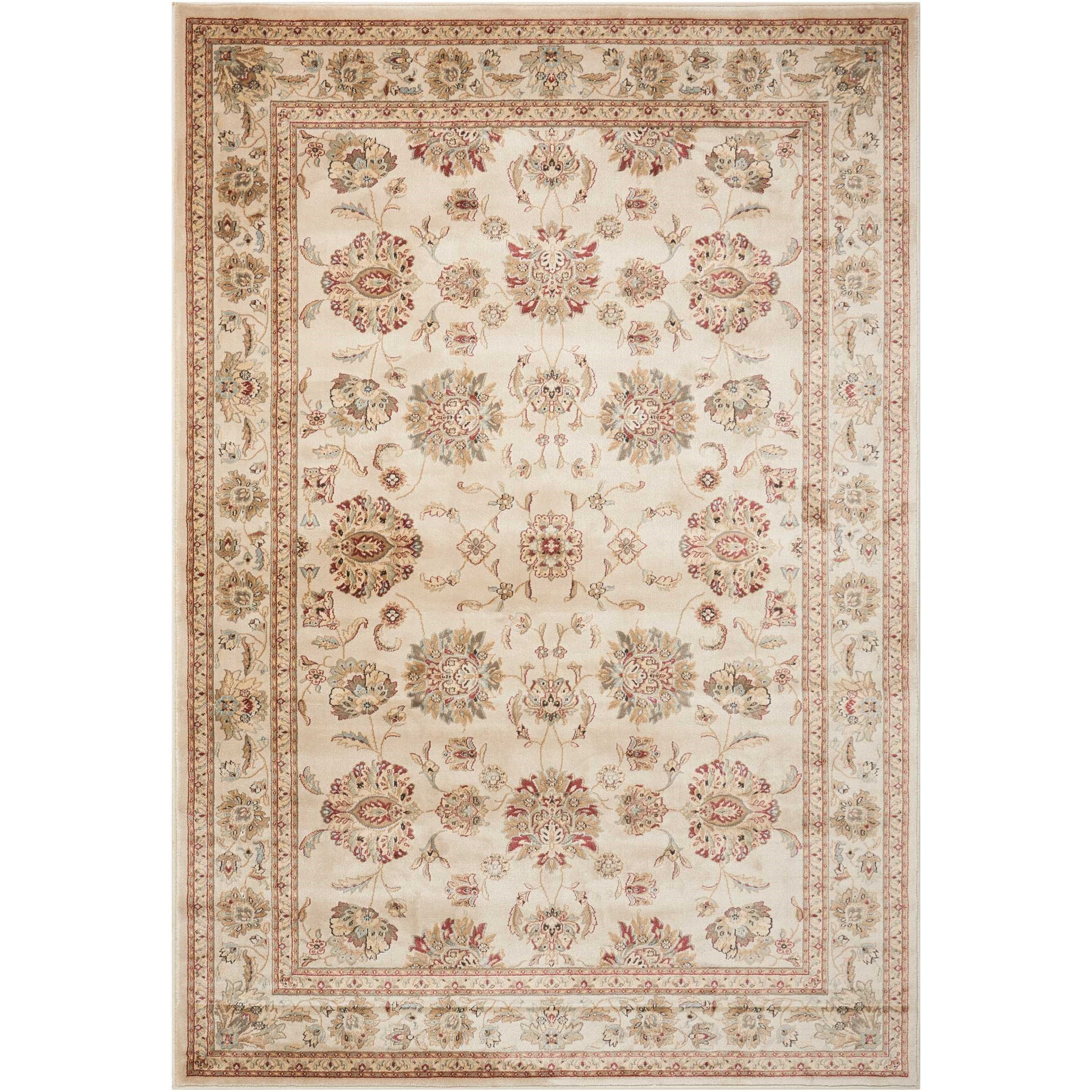 "3'9"" x 5'9"" Ivory/Ivory Rectangle Rug"