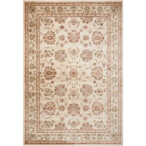 "Nourison Ararat 5'3"" x 7'4"" Ivory/Ivory Rectangle Rug"