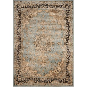"Nourison Ararat 3'9"" x 5'9"" Light Blue Rectangle Rug"