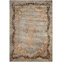 "Nourison Ararat 5'3"" x 7'4"" Light Blue Rectangle Rug - Item Number: ARA06 LTBLU 53X74"