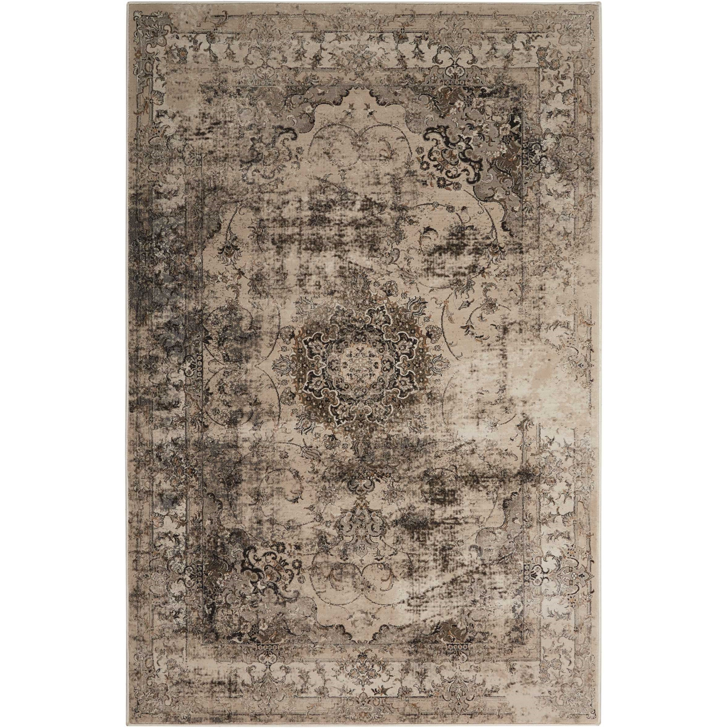 "5'3"" x 7'4"" Smoke Rectangle Rug"