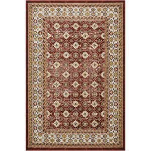 "Nourison Aria 3'11"" X 5'11"" Red Rug"