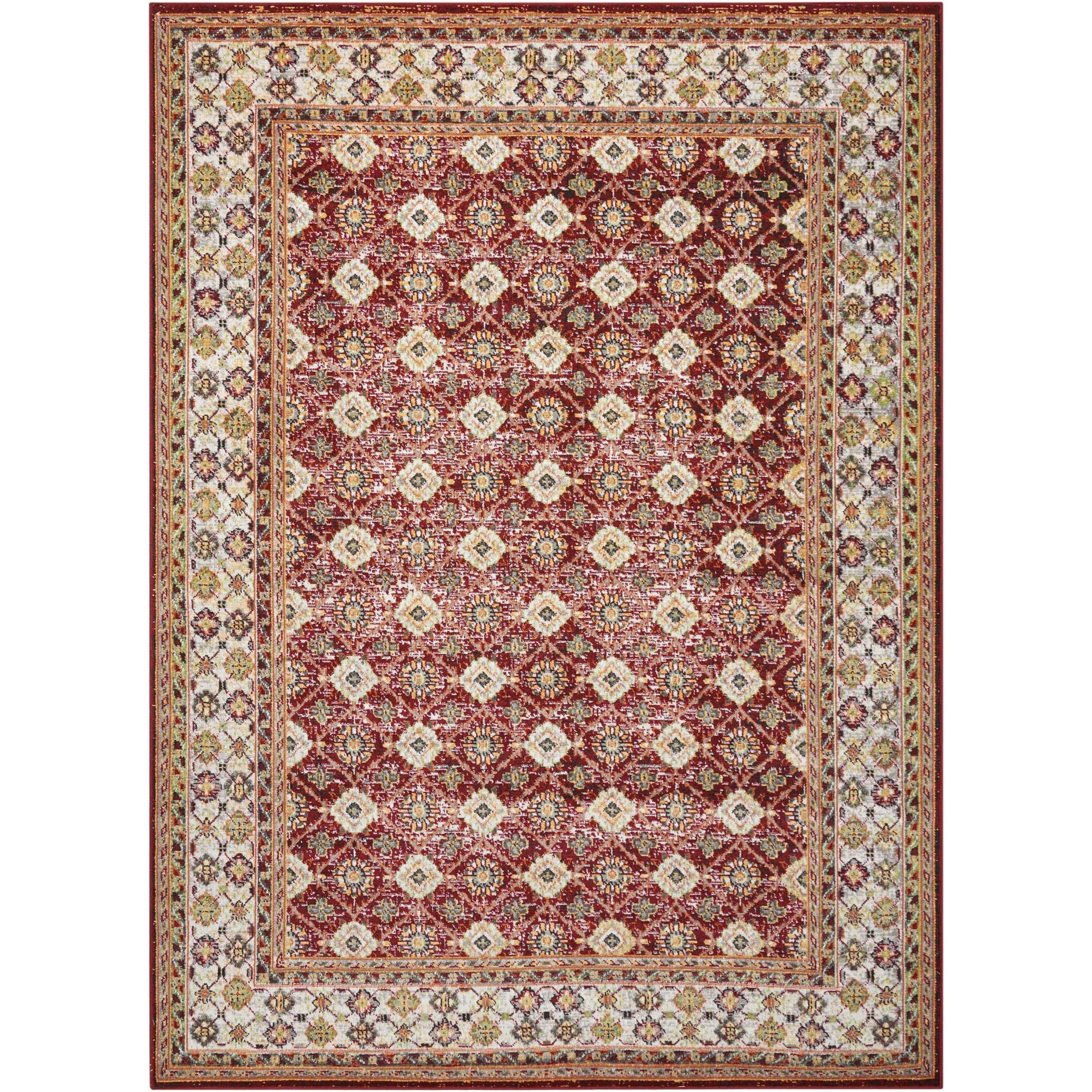 """Aria 5'3"""" X 7'3"""" Red Rug by Nourison at Sprintz Furniture"""