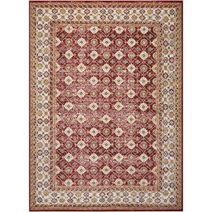 "Nourison Aria 5'3"" X 7'3"" Red Rug"