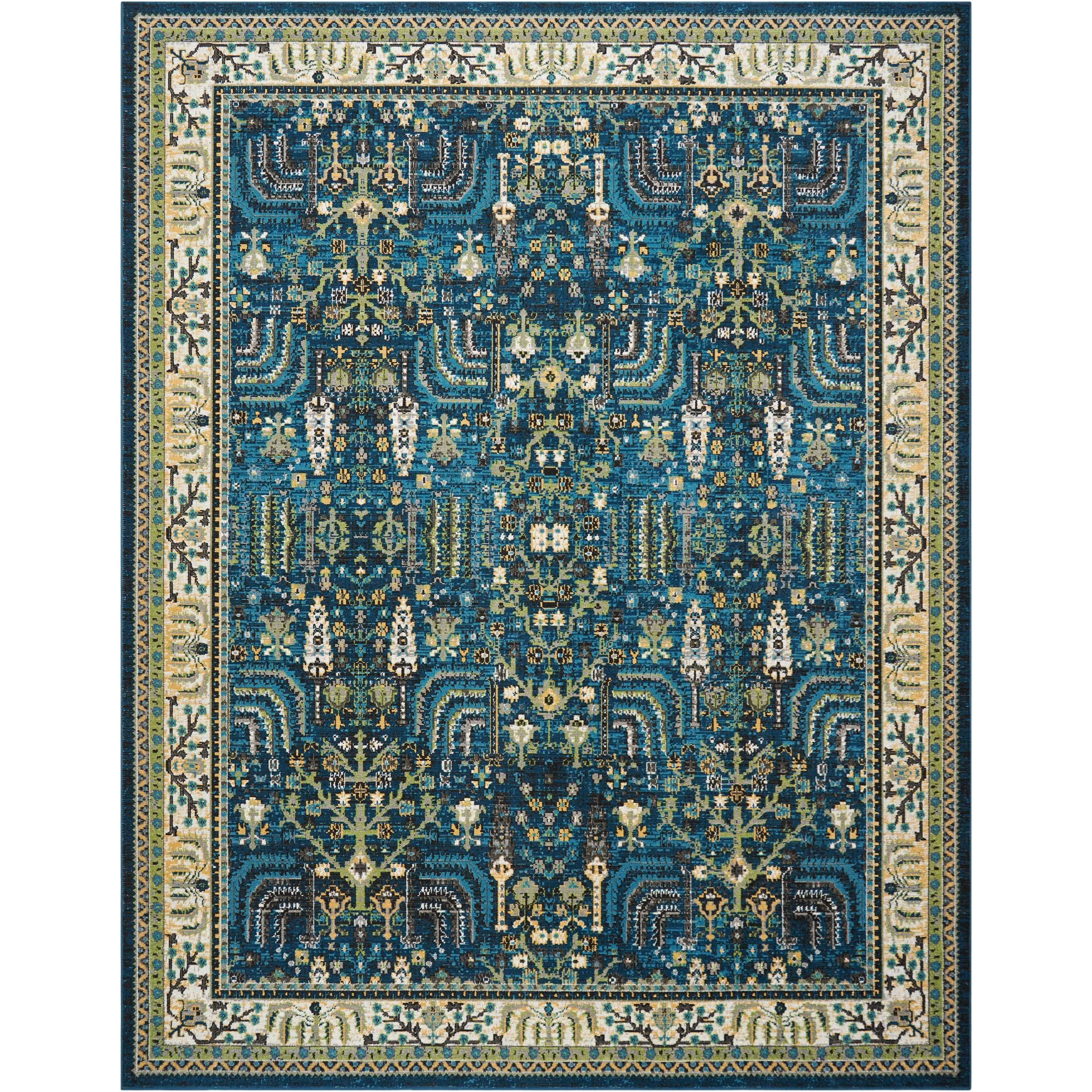 """Aria 7'10"""" X 10' Teal Rug by Nourison at Sprintz Furniture"""