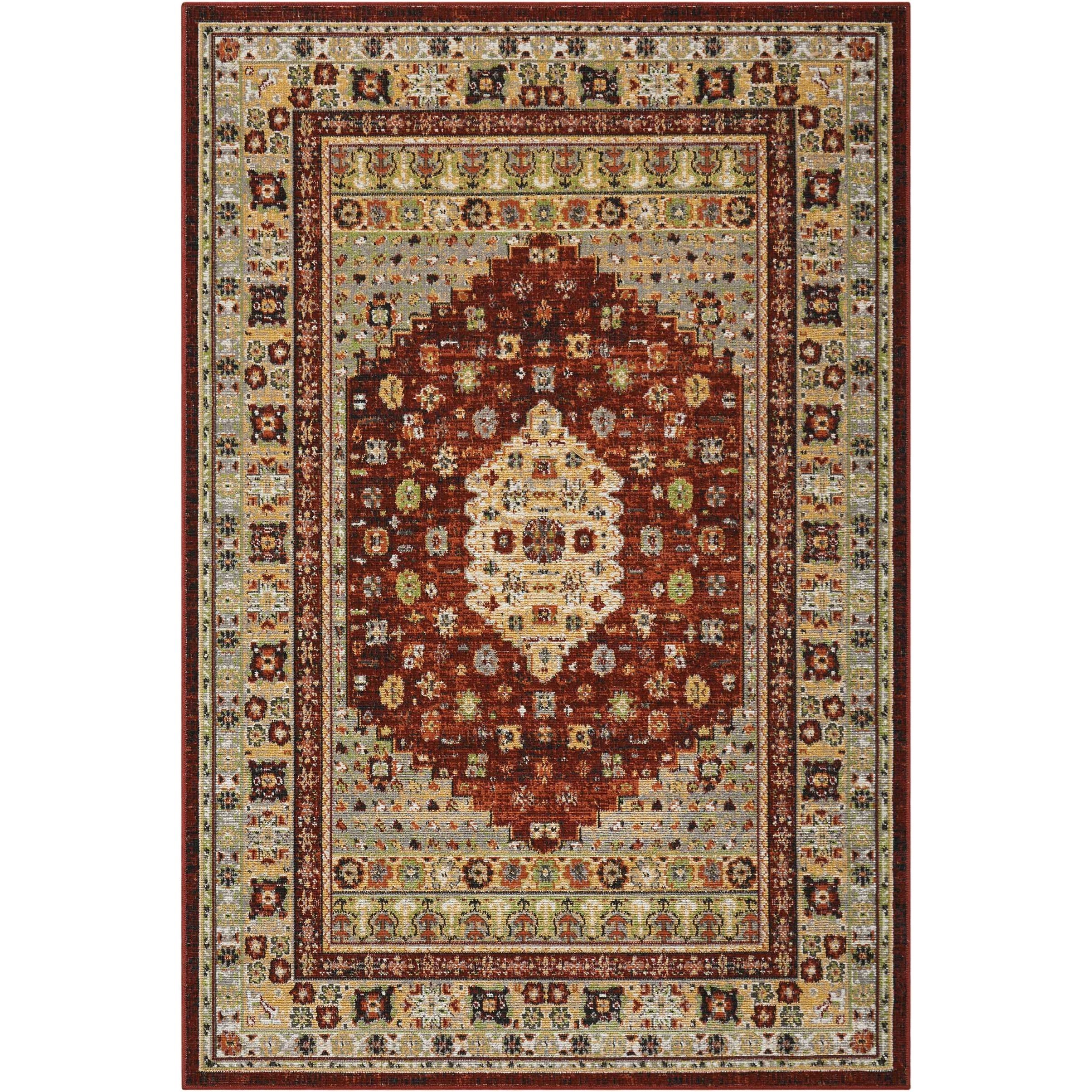 "Aria 3'11"" X 5'11"" Brick Rug by Nourison at Sprintz Furniture"