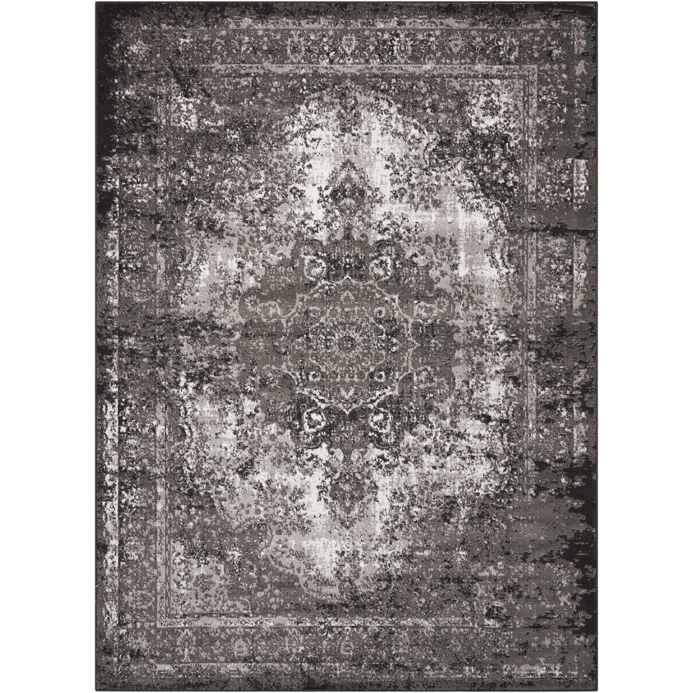 """Aria 5'3"""" X 7'3"""" Charcoal Rug by Nourison at Sprintz Furniture"""