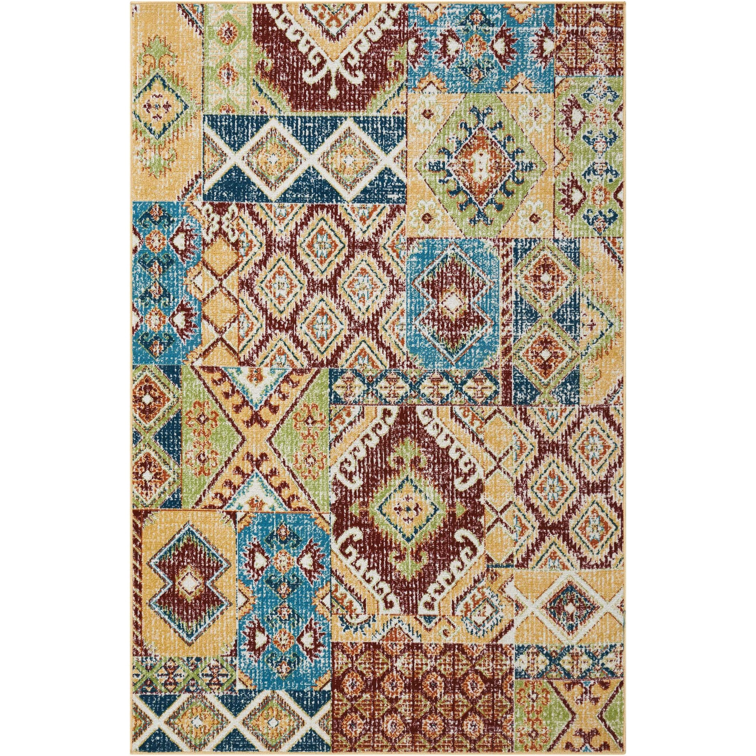 "Aria 3'11"" X 5'11"" Sunset Rug by Nourison at Sprintz Furniture"