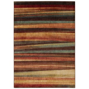 "Nourison Aristo 3'9"" x 5'9"" Multicolor Rectangle Rug"