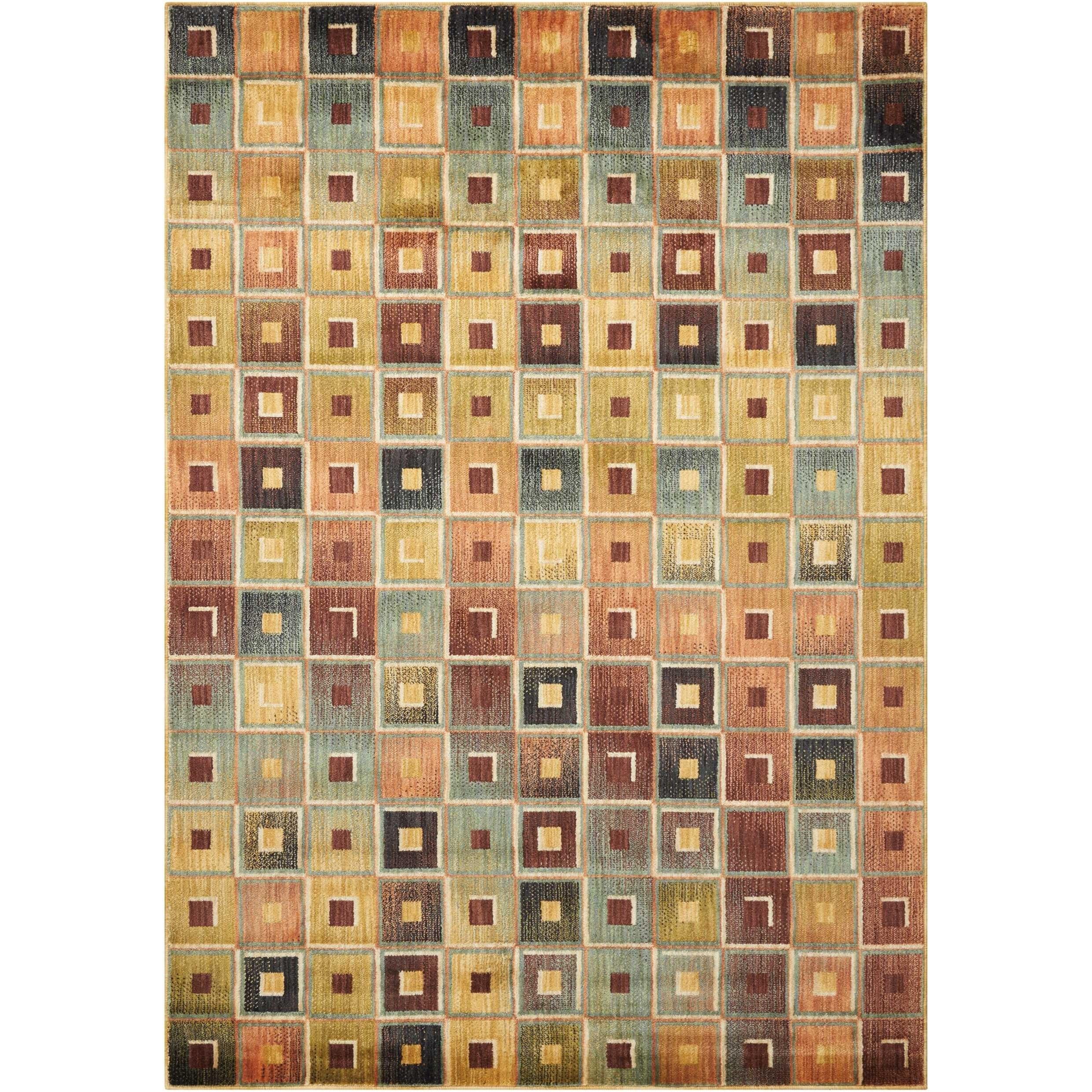 "Aristo 3'9"" x 5'9"" Multicolor Rectangle Rug by Nourison at Sprintz Furniture"