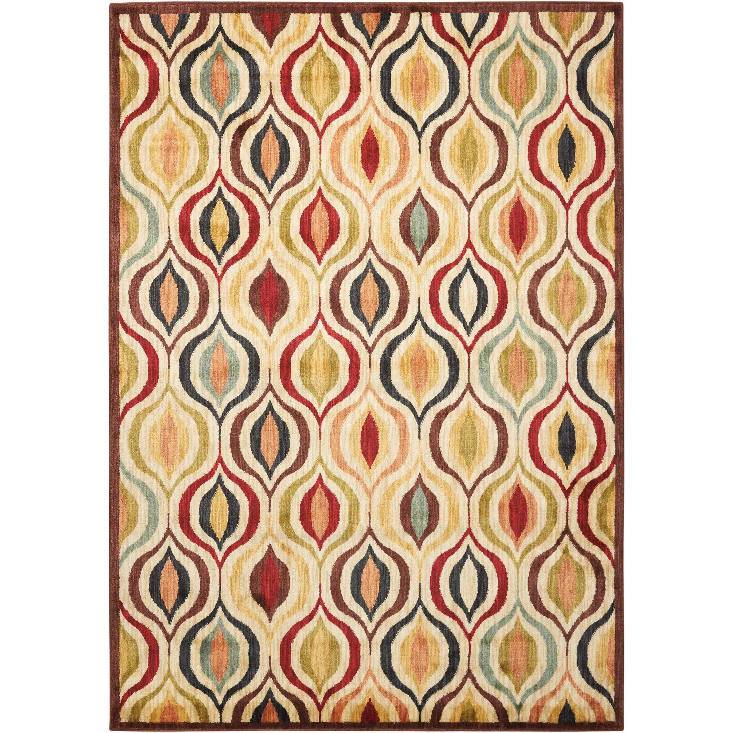 "9'3"" x 12'9"" Multicolor Rectangle Rug"