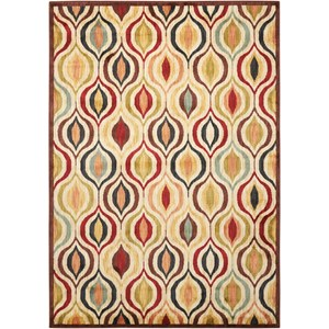 "Nourison Aristo 9'3"" x 12'9"" Multicolor Rectangle Rug"