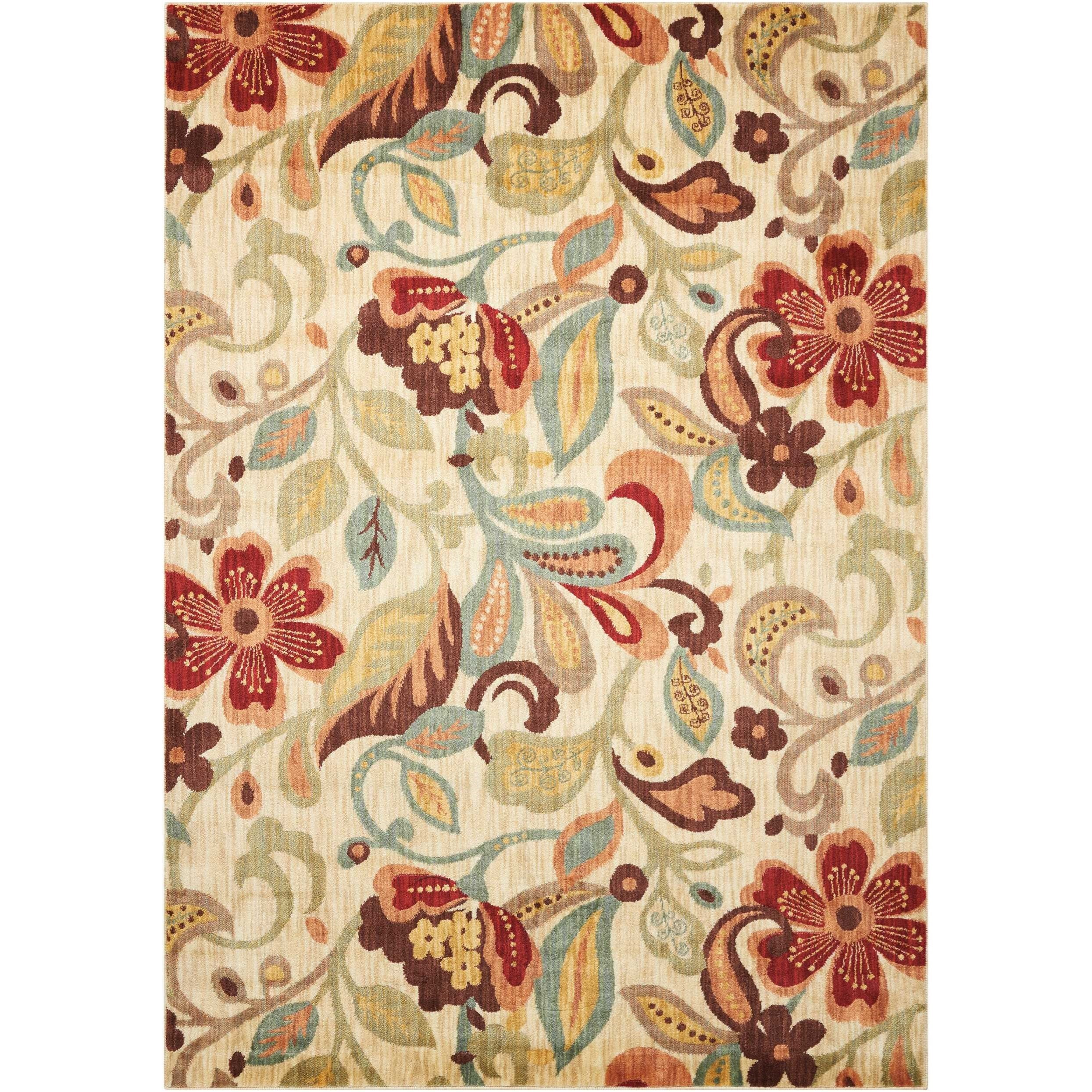 """Aristo 3'9"""" x 5'9"""" Ivory Rectangle Rug by Nourison at Sprintz Furniture"""