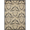 "Nourison Aristo 7'9"" x 10'10"" Black/Beige Rectangle Rug - Item Number: ARS05 BKBGE 79X1010"