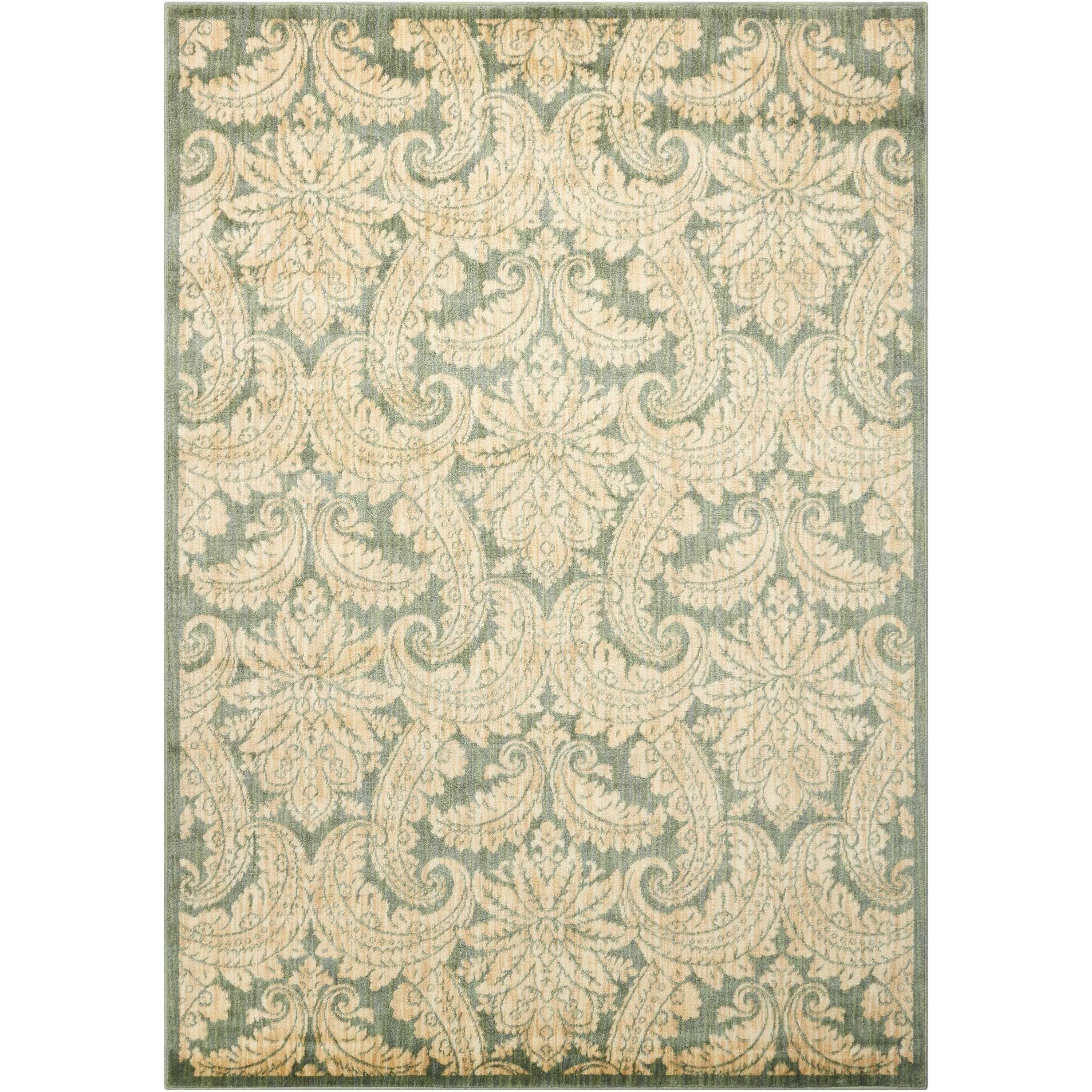 """Aristo 5'3"""" x 7'5"""" Blue/Ivory Rectangle Rug by Nourison at Sprintz Furniture"""