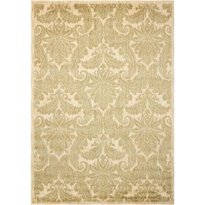 "Nourison Aristo 9'3"" x 12'9"" Khaki Rectangle Rug"