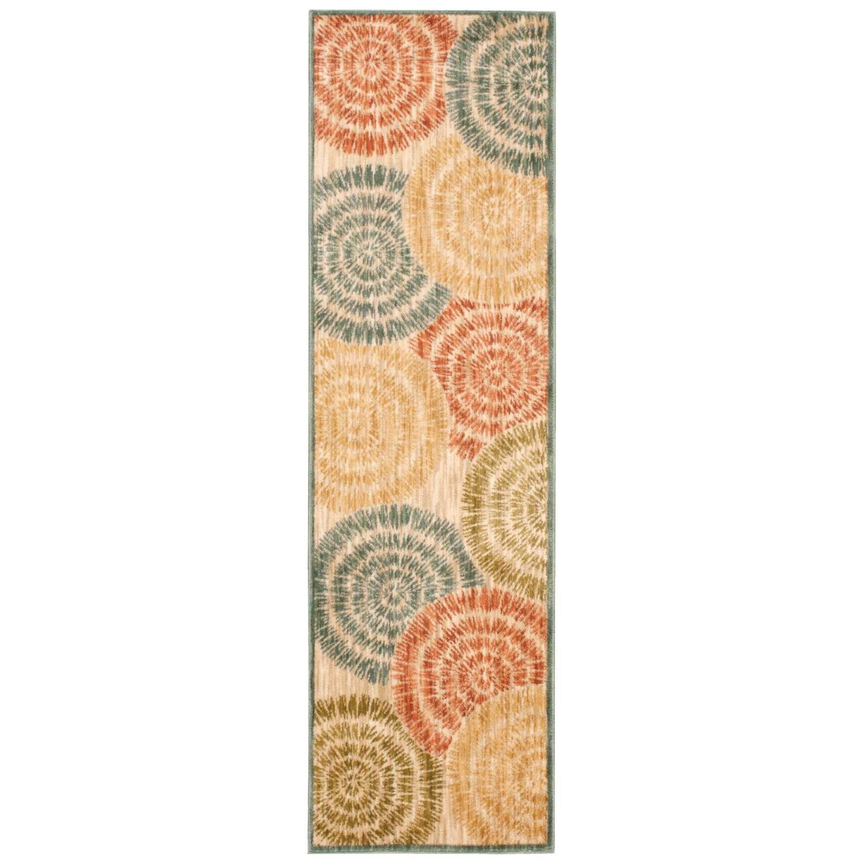 "2'2"" x 7'6"" Lt Multi Runner Rug"