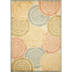"Nourison Aristo 3'9"" x 5'9"" Lt Multi Rectangle Rug"