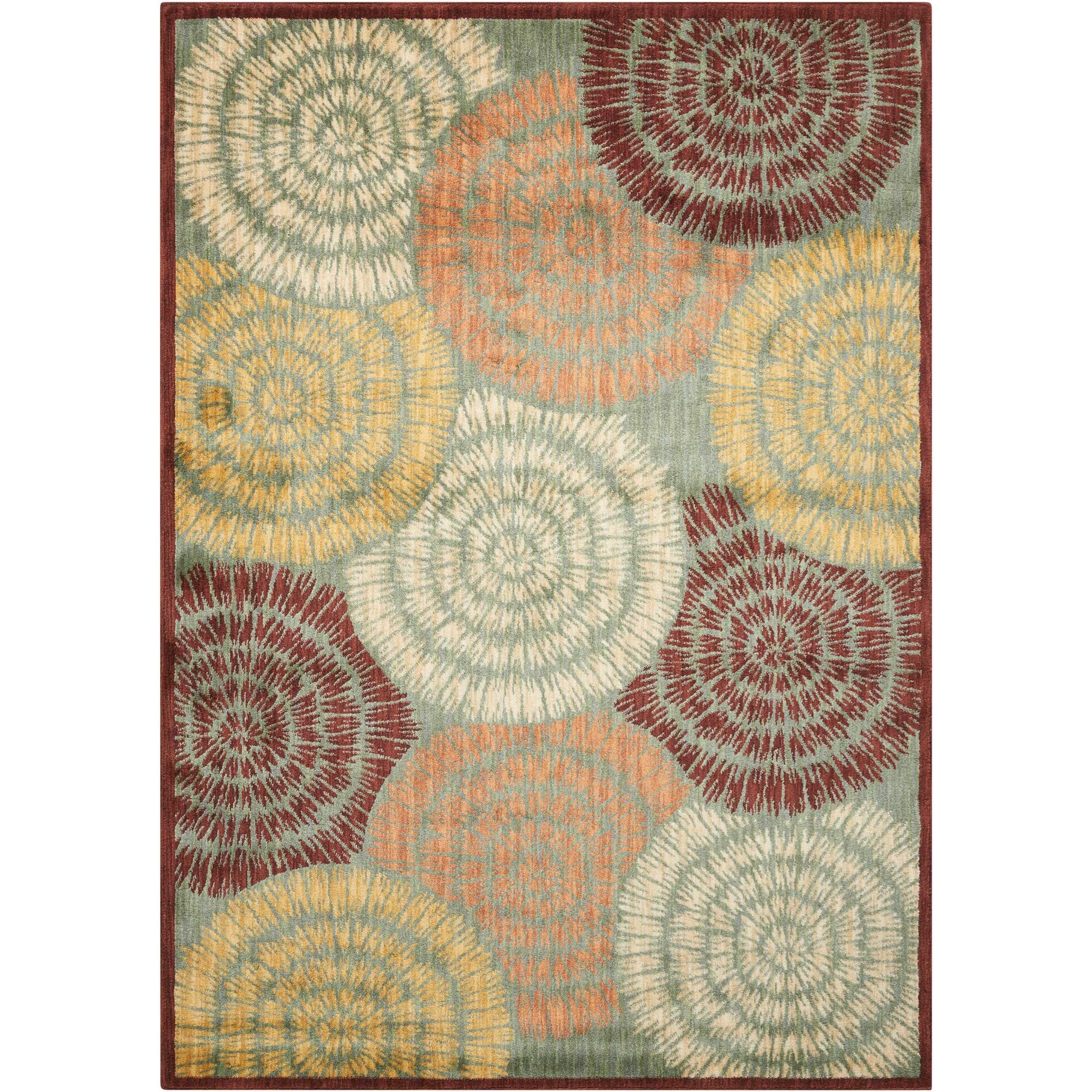 "7'9"" x 10'10"" Multicolor Rectangle Rug"