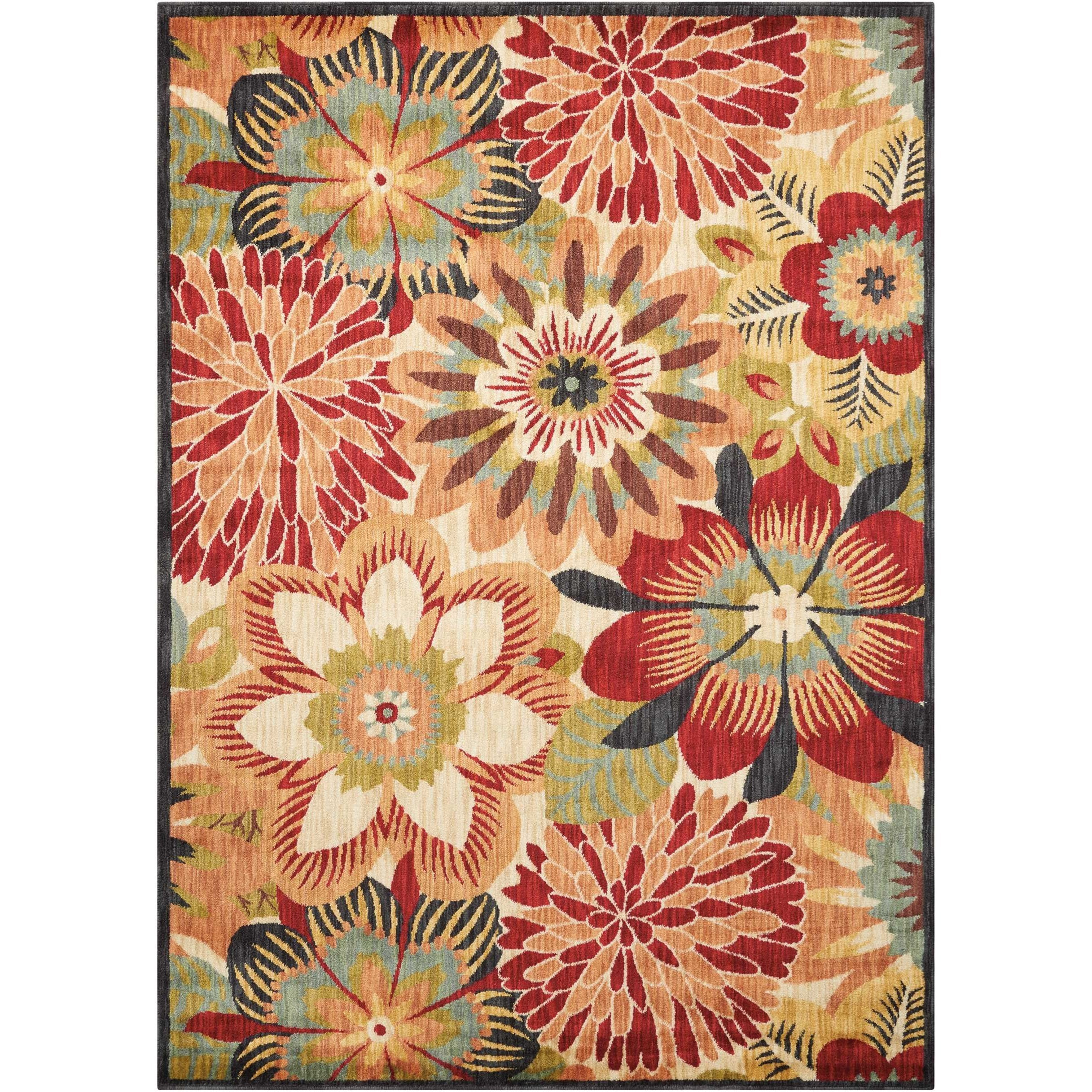 "Aristo 5'3"" x 7'5"" Multicolor Rectangle Rug by Nourison at Sprintz Furniture"