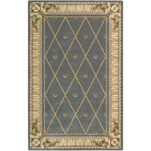 "Nourison Ashton House 3'6"" x 5'6"" Blue Rectangle Rug"