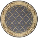 "Nourison Ashton House 7'5"" x 7'5"" Blue Round Rug - Item Number: AS03 BL 75X75"